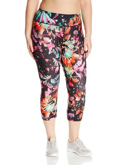 Nanette Lepore Play Women's Plus Sizesplash Palm Smooth Capri Size  2X