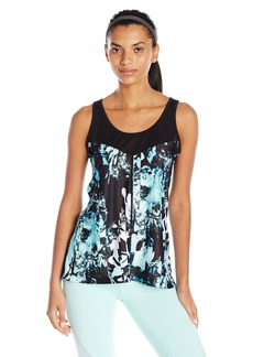 Nanette Lepore Play Women's Plus Sizespliced Floral Lace Mesh Tank Size  XL