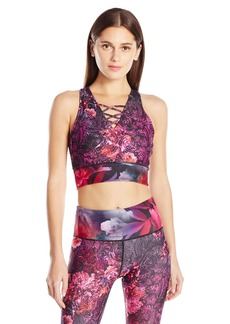 Nanette Lepore Play Women's Print Lace up Crop Top  S