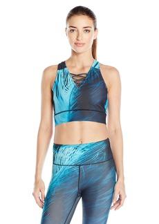 Nanette Lepore Play Women's  Print Lace Up Crop Top XL
