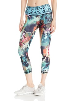 "Nanette Lepore Play Women's Print Smoothe Capri Legging 21""  XL"