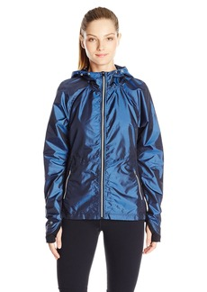 Nanette Lepore Play Women's Iridescent Ripstop and Compression Knit Windbreaker