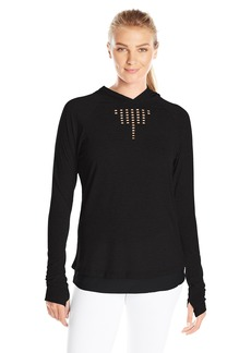 Nanette Lepore Play Women's Soft Laser Cut Hoodie