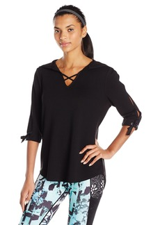 Nanette Lepore Play Women's Tie-Sleeve Top  L