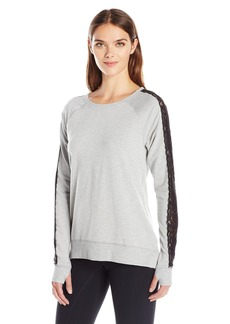 Nanette Lepore Play Women's Tri Blend French Terry Lacey Sweatshirt  edium