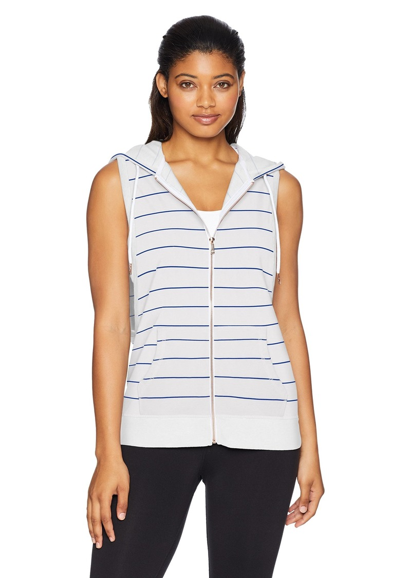 Nanette Lepore Play Women's Zip Front Sleeveless Hoodie  Extra Large