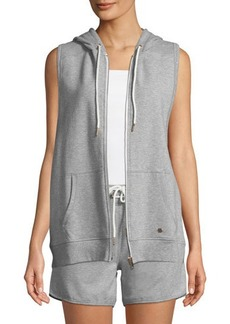 Nanette Lepore Play Zip-Front Sleeveless Hoodie