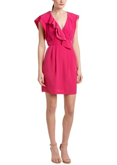 Nanette Lepore Pleated Faux Wrap Dress