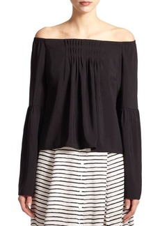 Nanette Lepore Pleated Off-the-Shoulder Blouse