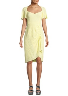 Nanette Lepore Portrait Scoop-Neck Tie Dress