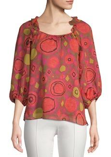 Nanette Lepore Printed Silk Blouse