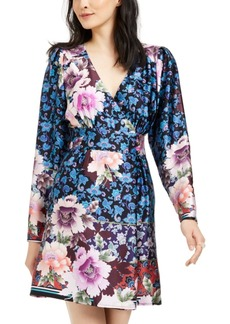 Nanette Lepore Printed Silk Faux-Wrap Dress