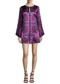 Nanette Lepore Printed Silk Satin Shift Dress