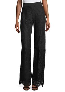 Nanette Lepore Renee High-Waist Lace Wide-Leg Pants