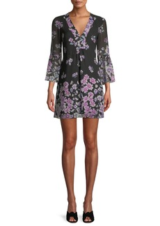 Nanette Lepore Revel Silk Mini Dress in Floral Print