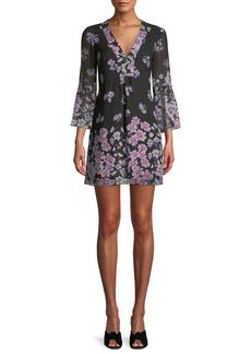 Nanette Lepore Revel Silk Mini Dress in Floral Print
