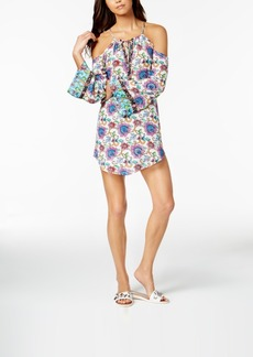 Nanette by Nanette Lepore Rosarito Floral-Print Cold-Shoulder Tunic Cover-Up, Created for Macy's Women's Swimsuit