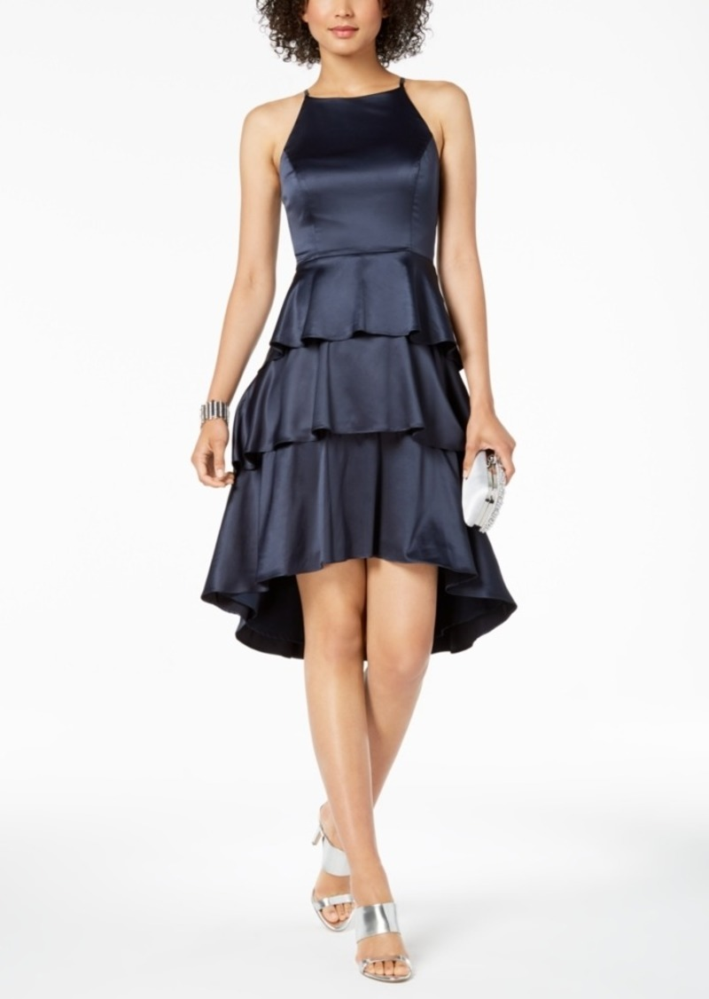 Nanette by Nanette Lepore Ruffle Tiered Satin Dress