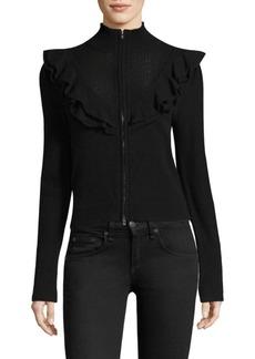 Nanette Lepore Textured Ruffle Jacket