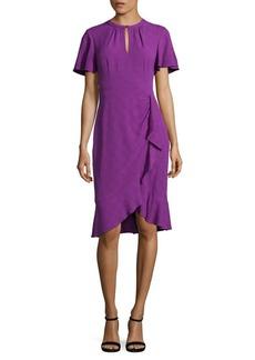 Nanette Lepore Ruffled Flutter-Sleeve Dress