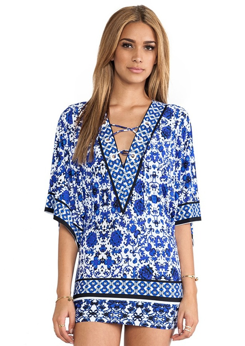Nanette Lepore Saint Etienne Tunic Cover Up in Blue