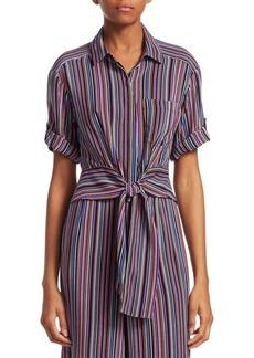 Sassy Striped Silk Top