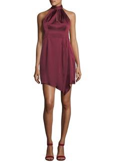 Nanette Lepore Satin Sleeveless Sheath Halter Dress