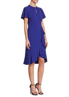 Nanette Lepore Second Act Flutter Bell-Sleeve Shift Dress