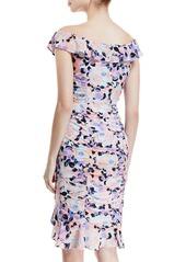 Nanette Lepore Seductress Off-the-Shoulder Floral Dress