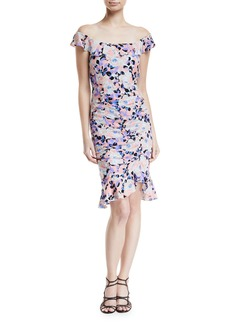 Nanette Lepore Seductress Off-the-Shoulder Floral Dress