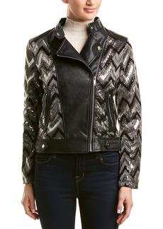 Nanette Lepore Sequin Biker Jacket