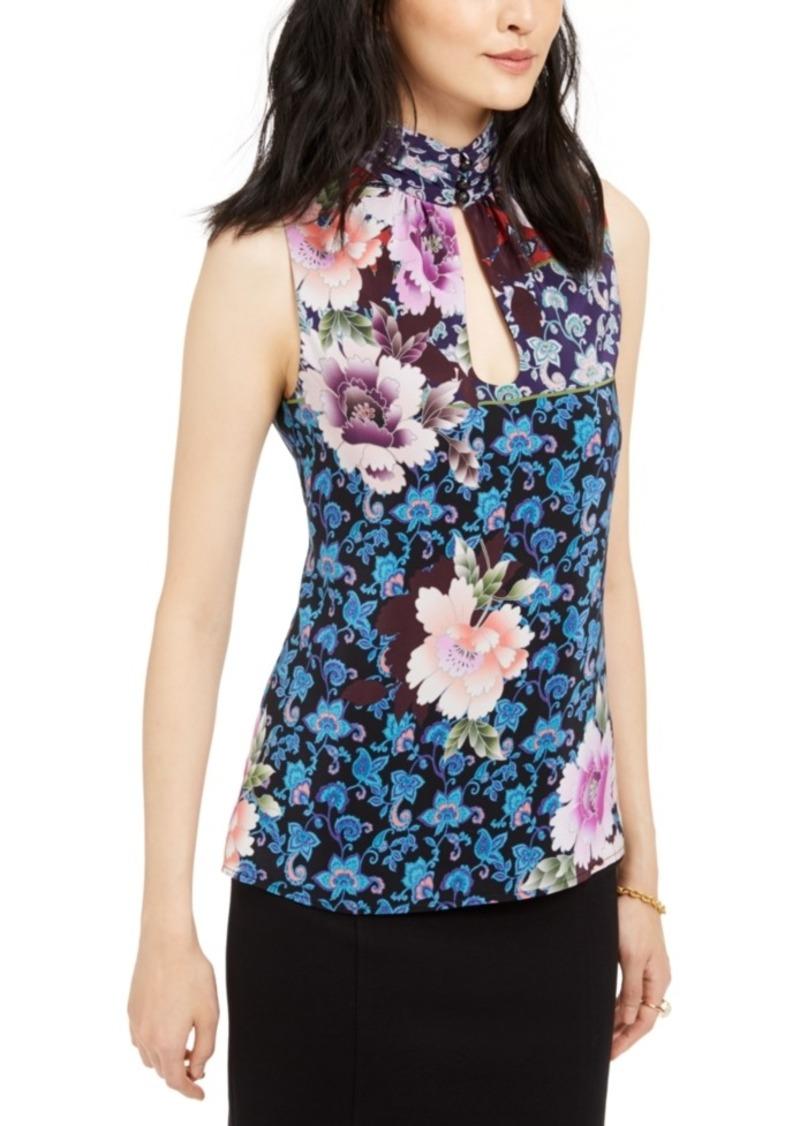 Nanette Lepore Silk Printed Sleeveless Top