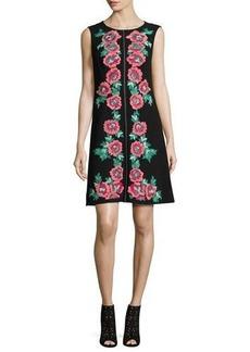 Nanette Lepore Sleeveless Embroidered Shift Dress