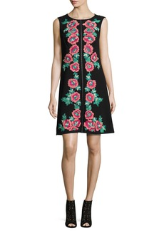 Nanette Lepore Sleeveless Embroidered Shift Dress