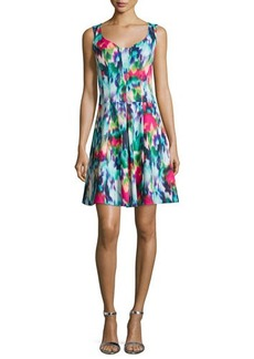 Nanette Lepore Sleeveless Floral-Print A-line Dress