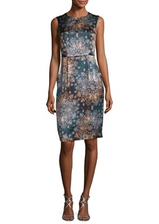 Nanette Lepore Sleeveless Floral Silk Sheath Dress