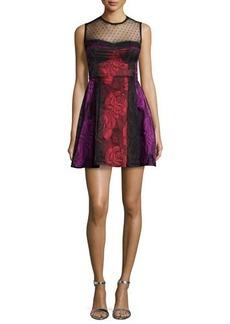 Nanette Lepore Sleeveless Illusion Fit & Flare Dress