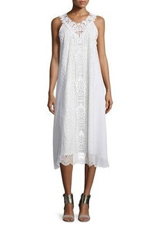 Nanette Lepore Sleeveless Lace A-line Midi Dress