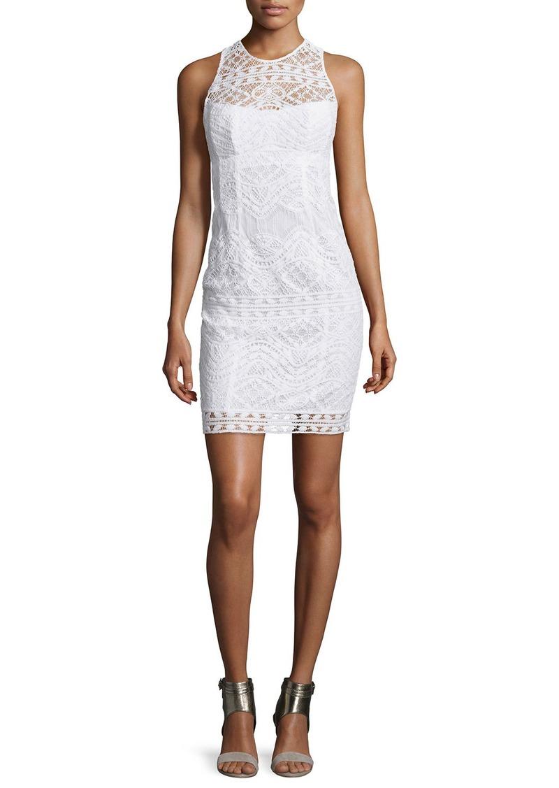 Nanette Lepore Sleeveless Lace Illusion Sheath Dress