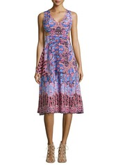 Nanette Lepore Sleeveless Print Dress with Side Cutouts