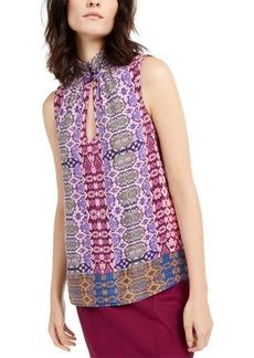 Nanette Lepore Snake-Print Silk Top