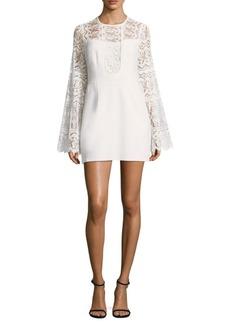 Nanette Lepore Spanish Dancer Lace Bell-Sleeve Dress