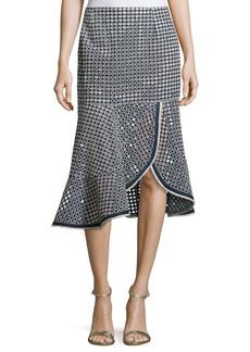 Nanette Lepore Surfside Eyelet Mid Skirt