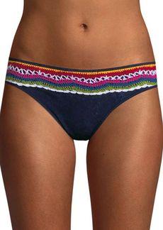 Nanette Lepore Swim Crochet Denim Bikini Bottom