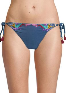 Nanette Lepore Lace Denim Bikini Bottom