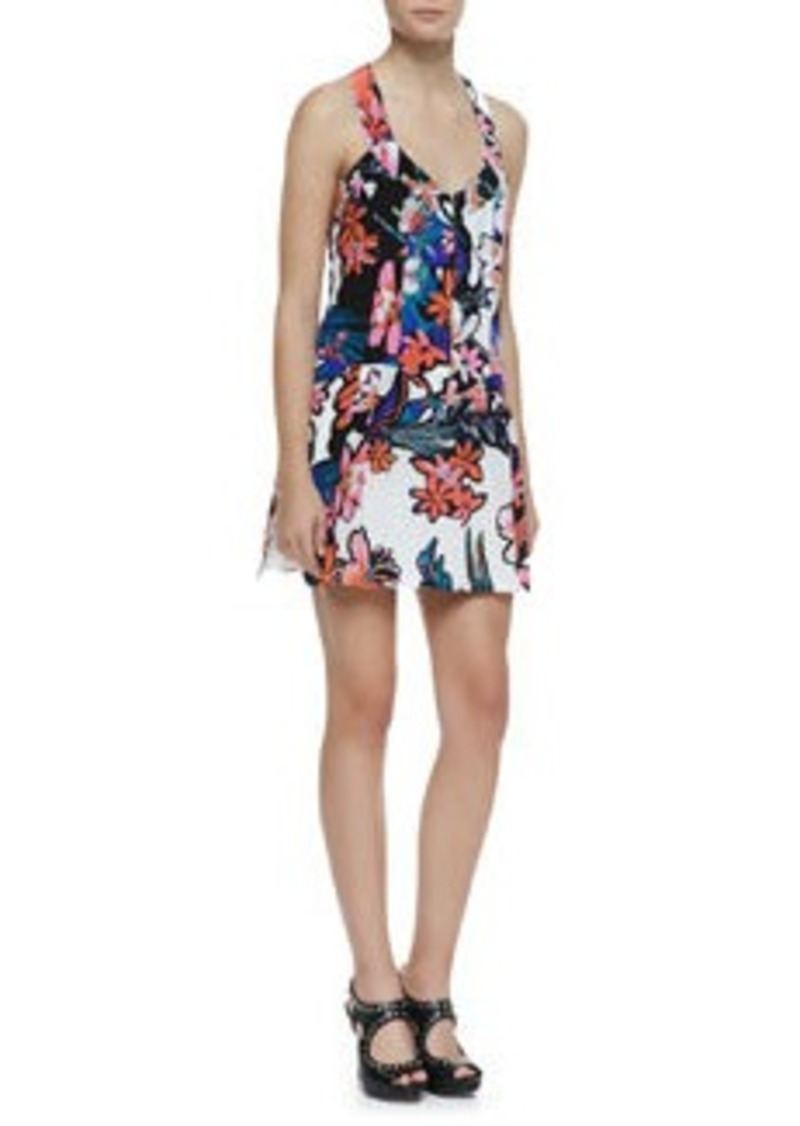 Nanette Lepore Trendy Tropics Floral-Print Silk Dress
