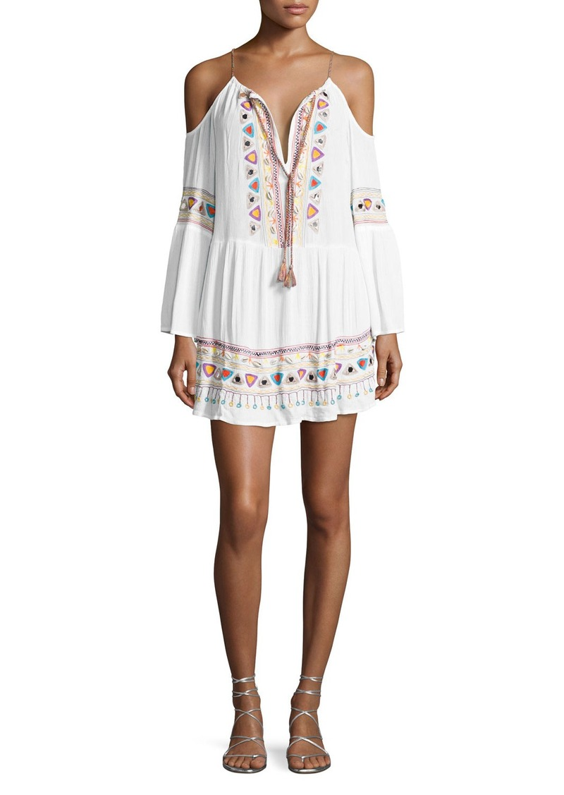 Nanette Lepore Tribal Beat Cold-Shoulder Coverup Tunic