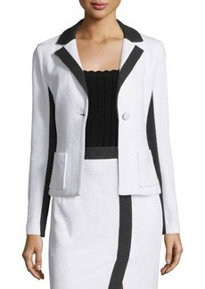 Nanette Lepore Two-Tone One-Button Jacket