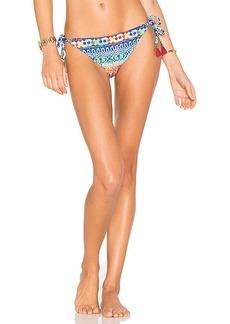 Nanette Lepore Vamp Bikini Bottom in Blue. - size M (also in S,XS)