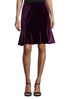 Nanette Lepore Velvet Flounce Skirt